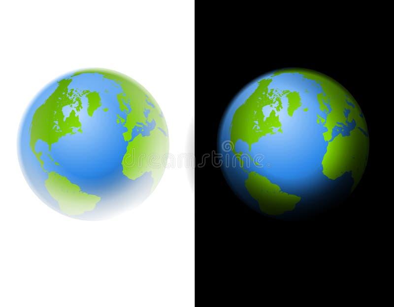 Zwart-witte de Illustratie van de Kunst van de Klem van de aarde stock illustratie