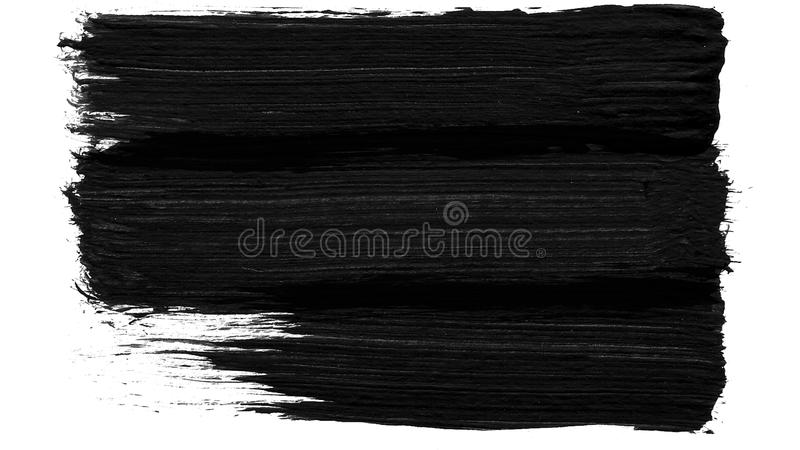 Zwart-witte de overgangsachtergrond van de borstelslag Animatie van verfplons Abstracte achtergrond voor advertentie en stock foto's