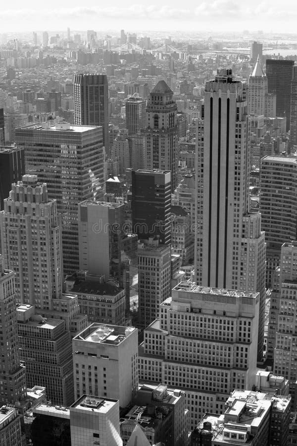 Zwart-witte de stad van New York stock fotografie