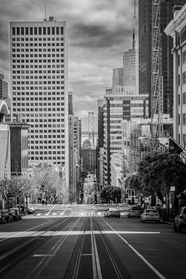 Zwart-witte de Straat van Californië stock foto