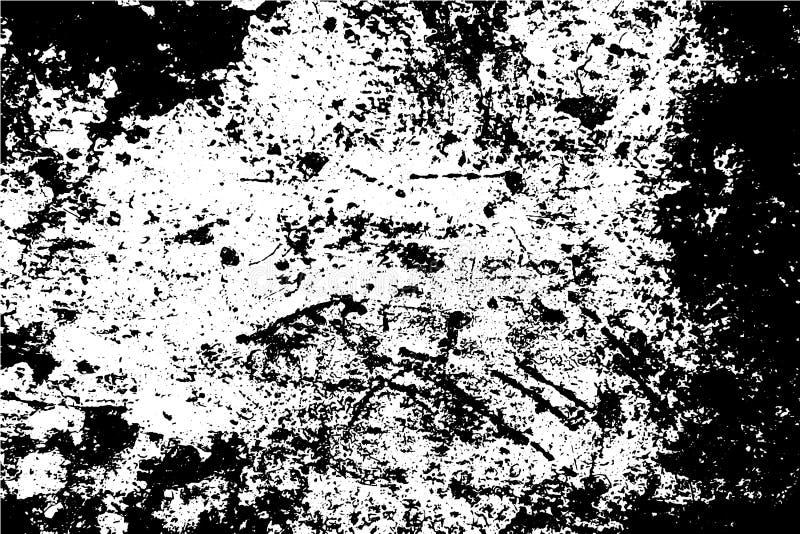 Zwart-witte doorstane verftextuur Houten raad gevonden achtergrond Slordige natuurlijke textuur vector illustratie