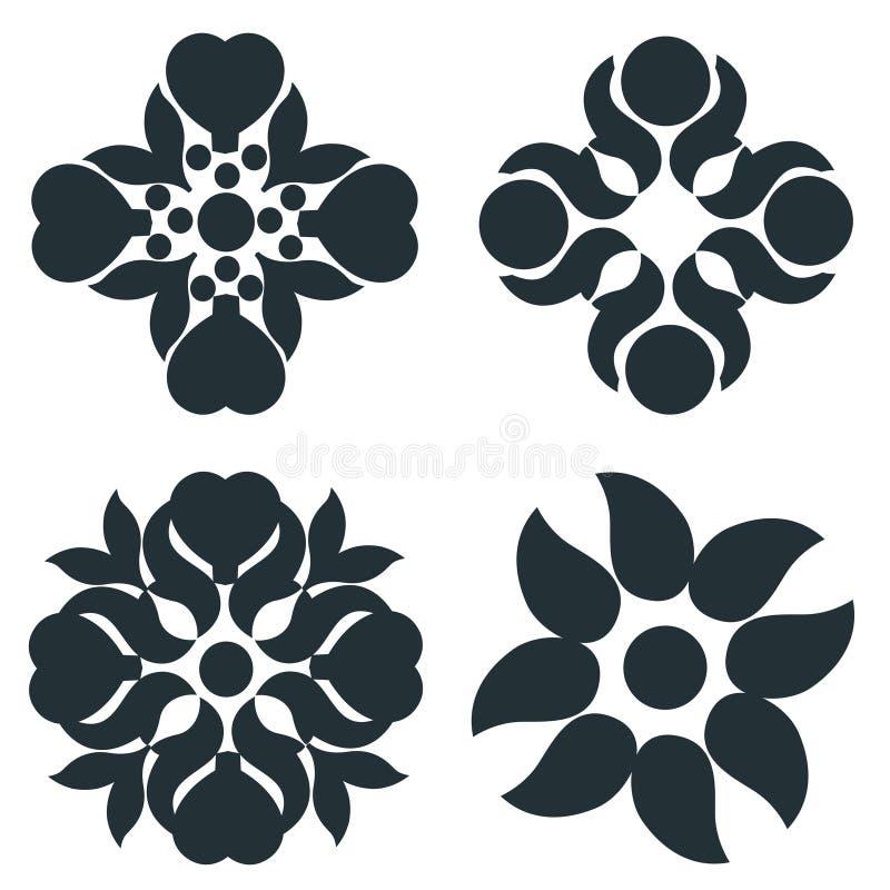 Zwart-witte elementen vector illustratie
