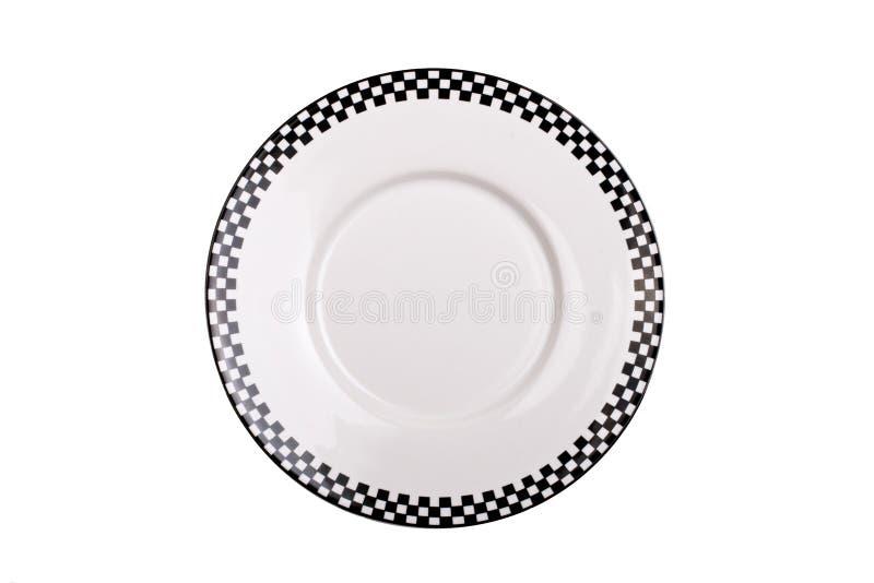 Zwart-witte geïsoleerde$ plaat royalty-vrije stock afbeelding