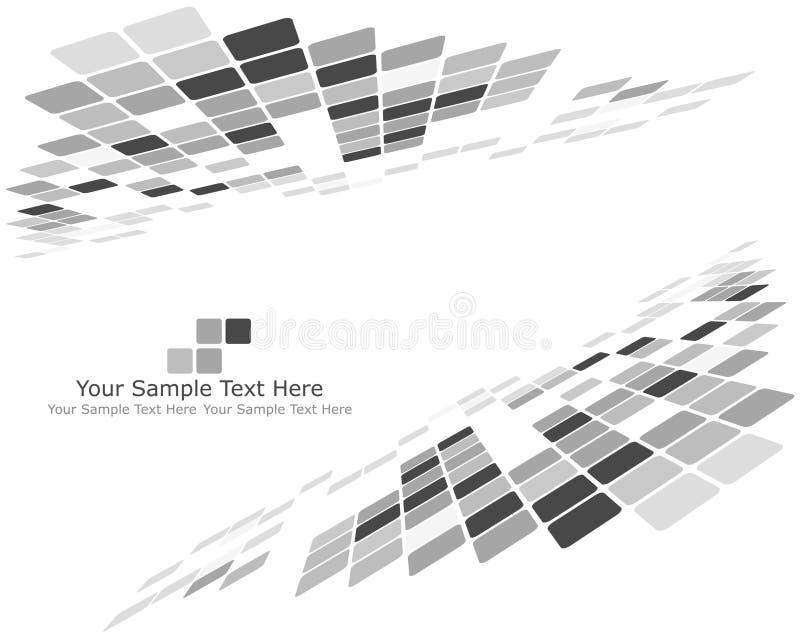 Zwart-witte gecontroleerde achtergrond stock illustratie