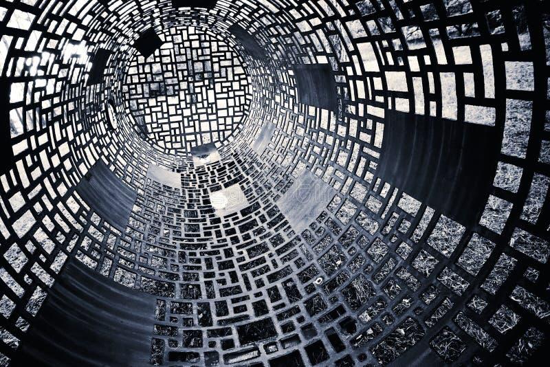 Zwart-witte geometrische achtergrond stock afbeeldingen