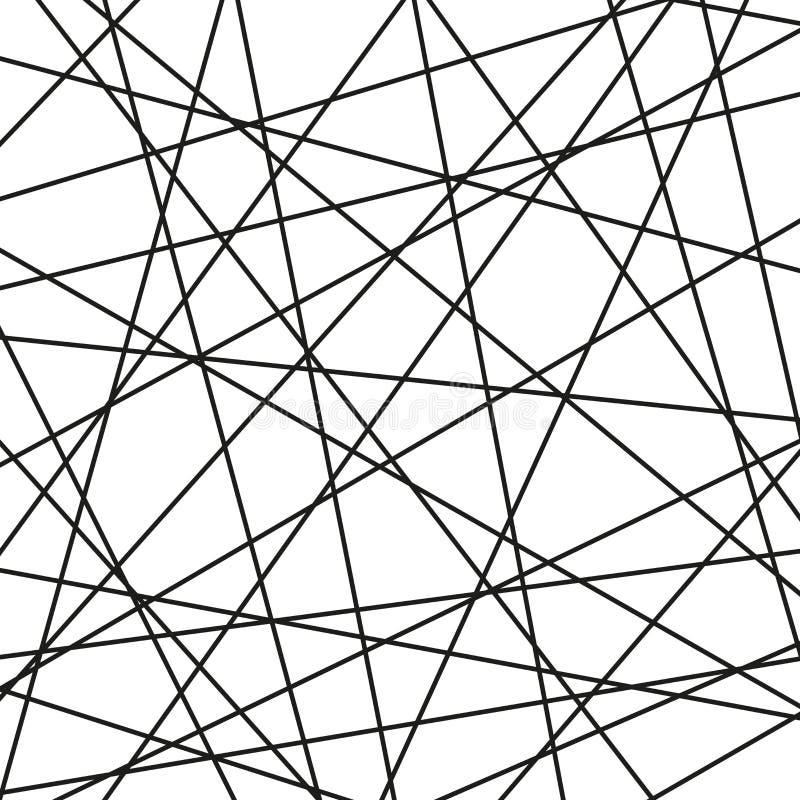 Zwart-witte Geometrische Vectorachtergrond vector illustratie