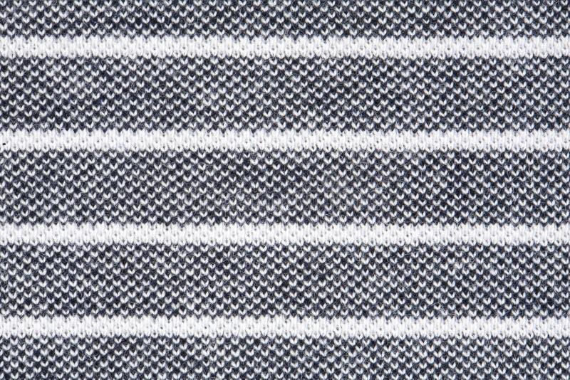 Zwart-witte gestreepte stoffentextuur stock afbeelding