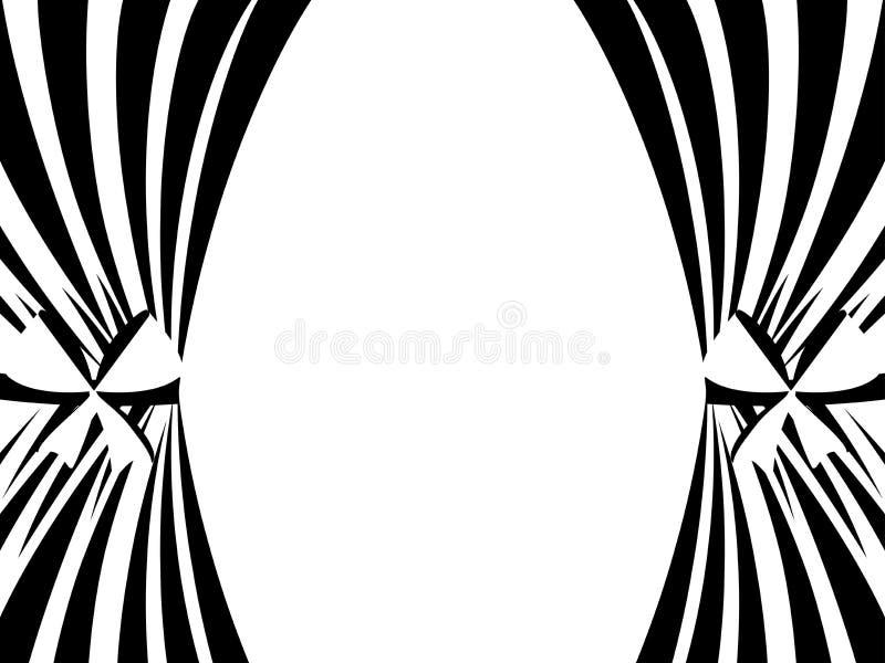 Zwart-witte gordijnen op een witte achtergrond Vector royalty-vrije illustratie