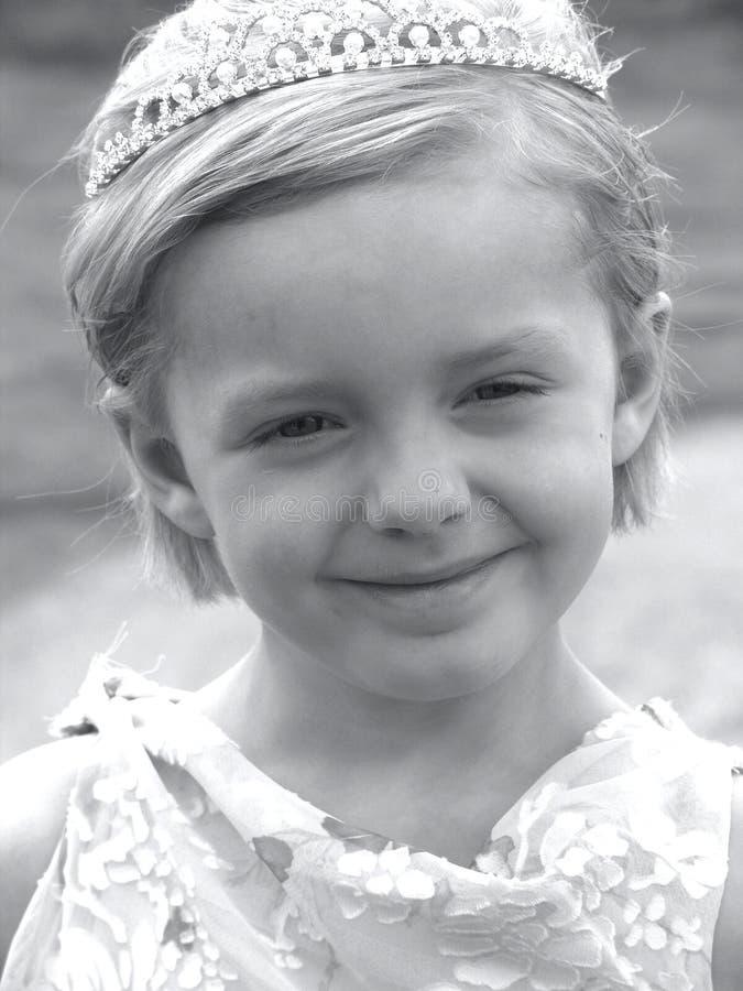 Zwart-witte het Meisje van de bloem royalty-vrije stock fotografie
