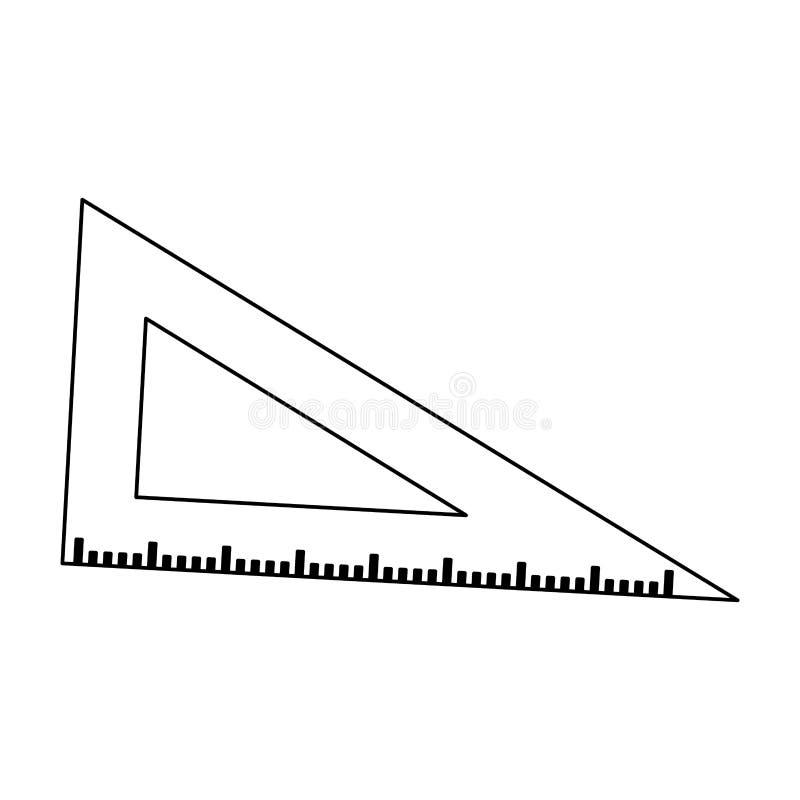 Zwart-witte het symbool van de driehoeksheerser royalty-vrije illustratie