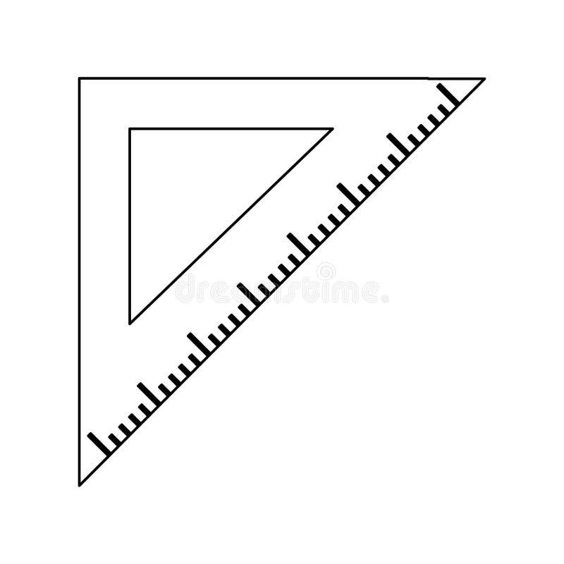 Zwart-witte het symbool van de driehoeksheerser stock illustratie