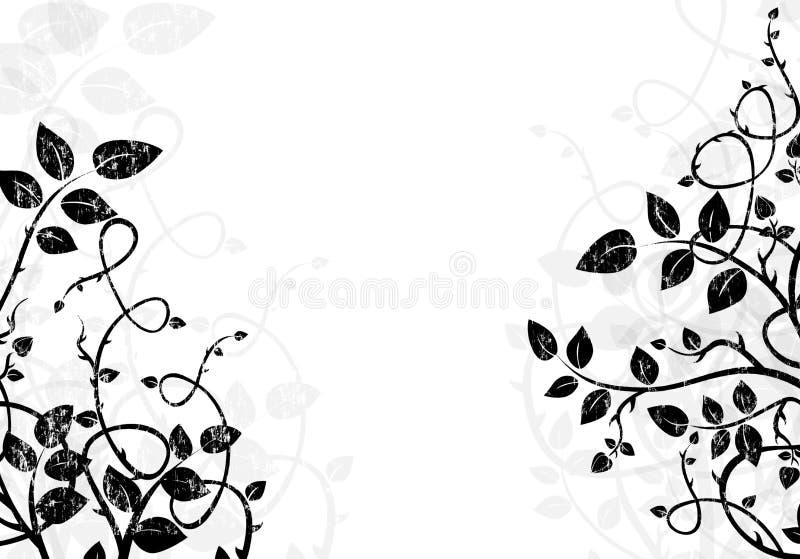 Zwart-witte illustratie als achtergrond stock illustratie