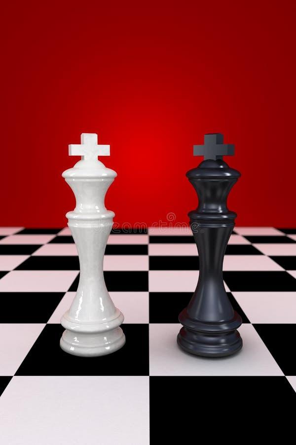 Zwart-witte koning stock afbeeldingen