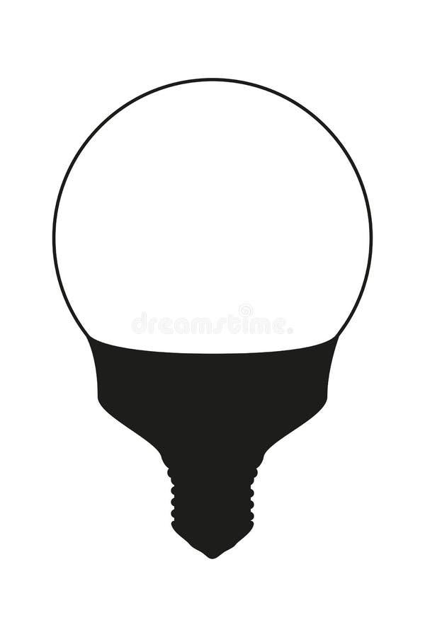 Zwart-witte lichte orb lamp royalty-vrije illustratie