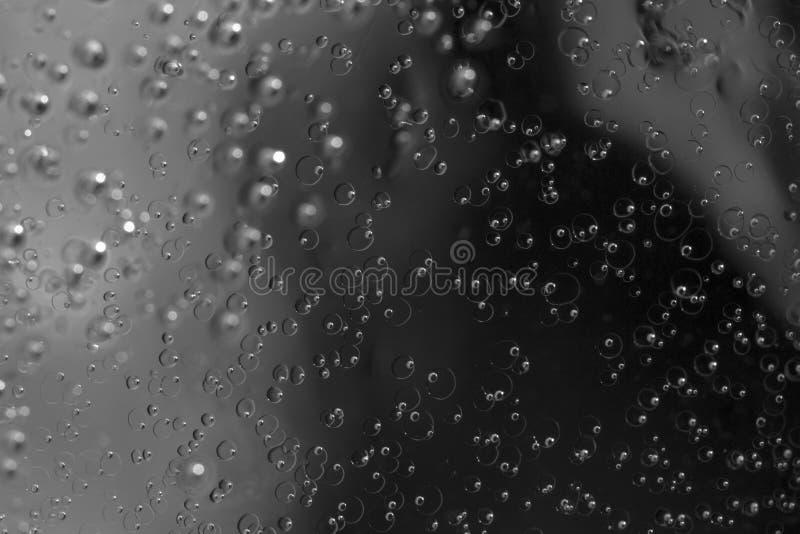 Zwart-witte macrofotografie van ijzig water royalty-vrije stock fotografie