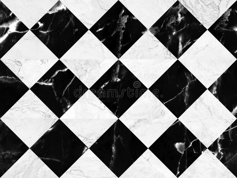 Zwart-witte marmeren bakstenen muurachtergrond, naadloos marmeren muurpatroon, voor Binnenlandontwerp Hoge Resolutie stock foto's