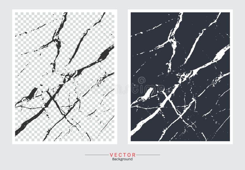 Zwart-witte marmeren dekkingsachtergrond stock illustratie