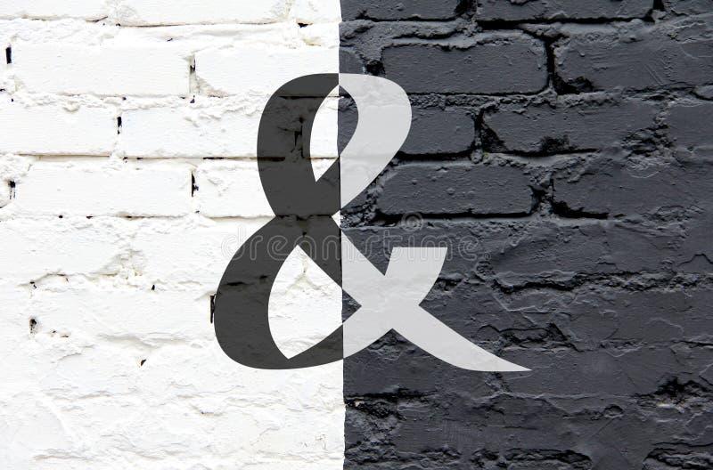 Zwart-witte muur  royalty-vrije stock afbeelding