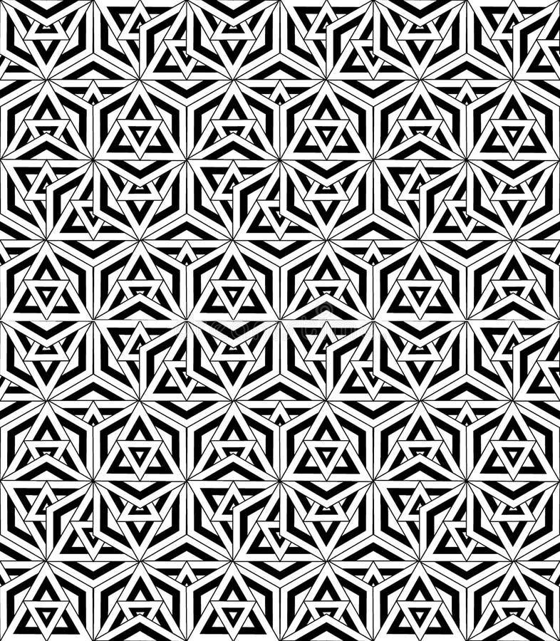 Zwart-witte naadloze patroon heilige meetkunde vector illustratie