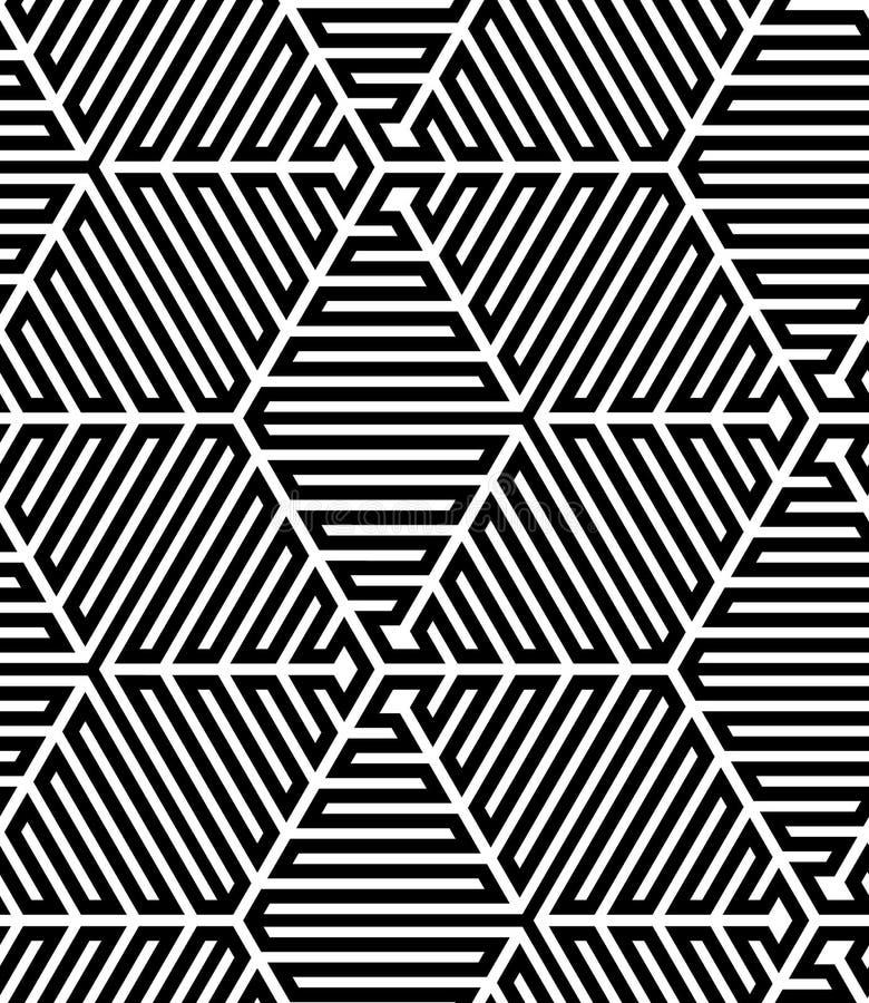 Zwart-witte Op Art Design stock illustratie