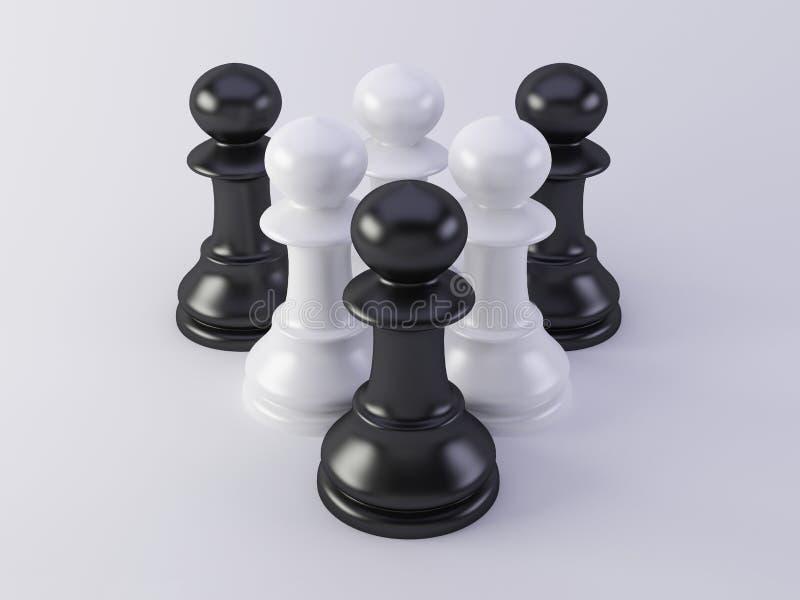 Zwart-witte panden royalty-vrije stock fotografie