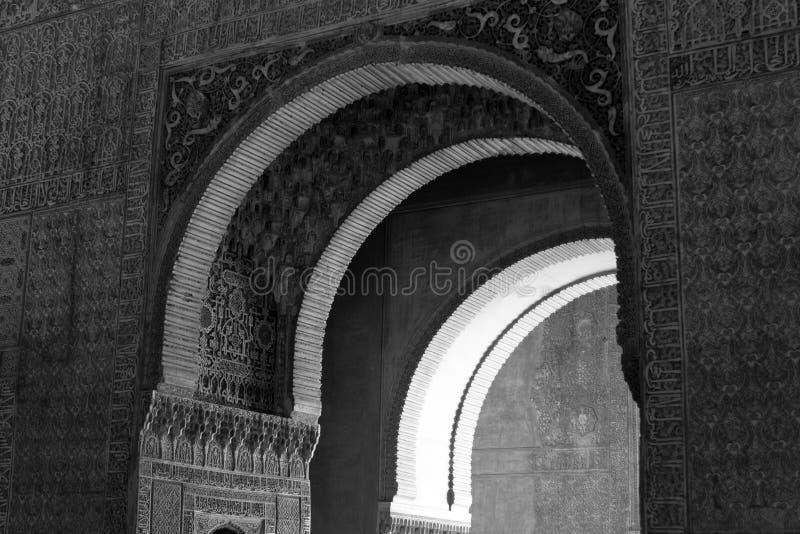 Zwart-witte passage stock foto