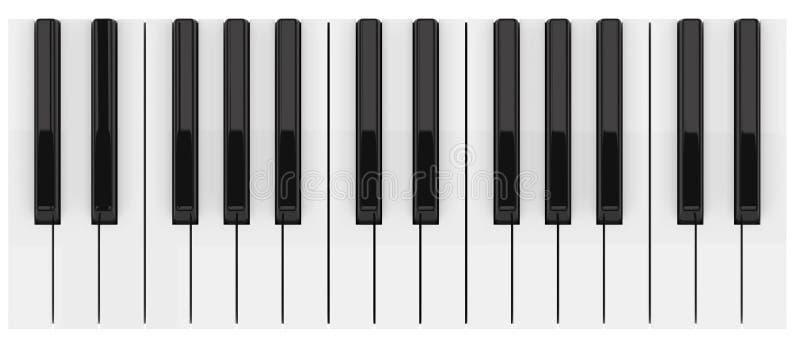 Zwart-witte pianosleutels royalty-vrije illustratie