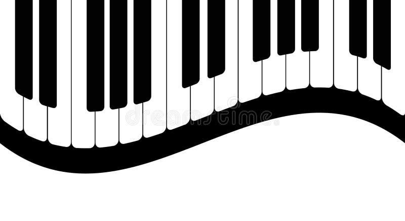 Zwart-witte pianosleutels Vector illustratie royalty-vrije illustratie