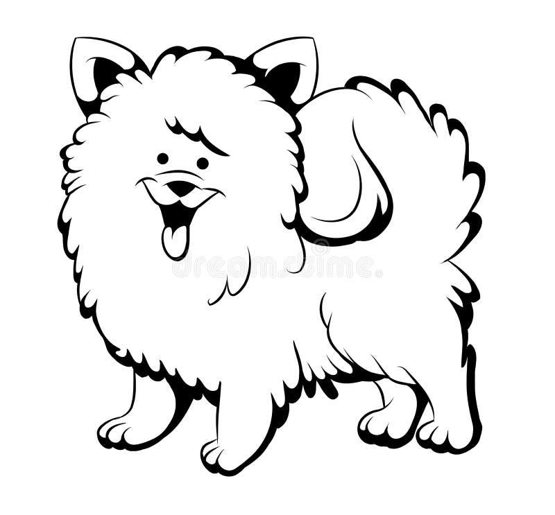 Download Zwart-witte prethond vector illustratie. Illustratie bestaande uit drukken - 39108518