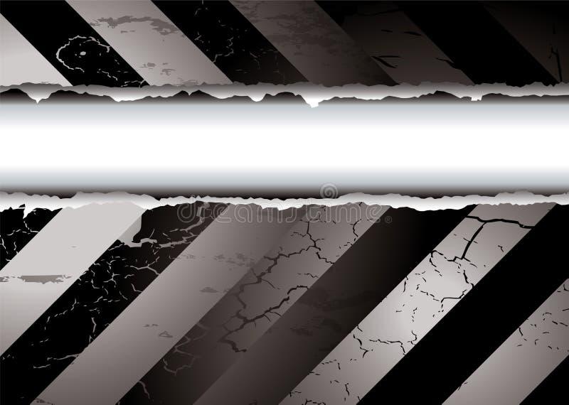 Zwart-witte scheur stock illustratie