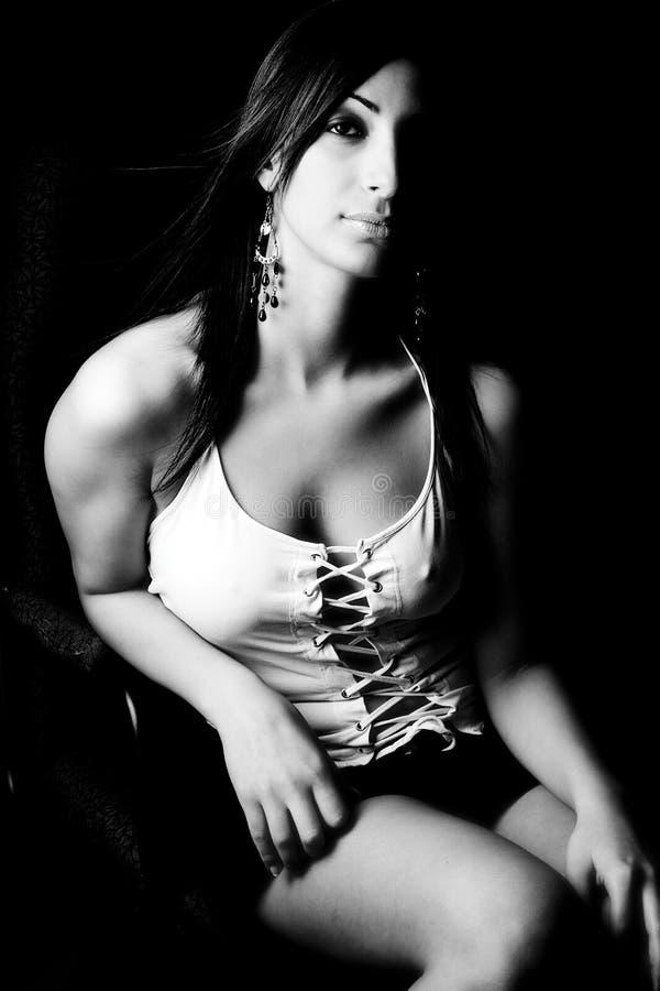 Zwart-witte sexy collectief royalty-vrije stock afbeelding