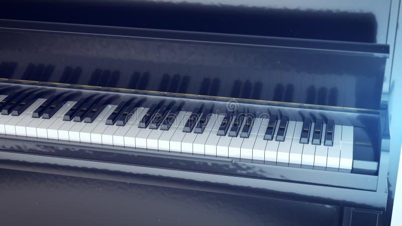 Zwart-witte sleutels van een piano royalty-vrije illustratie
