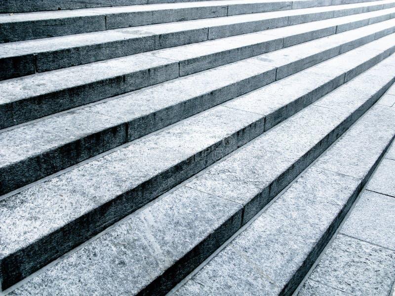 Zwart-witte steenstappen royalty-vrije stock afbeelding