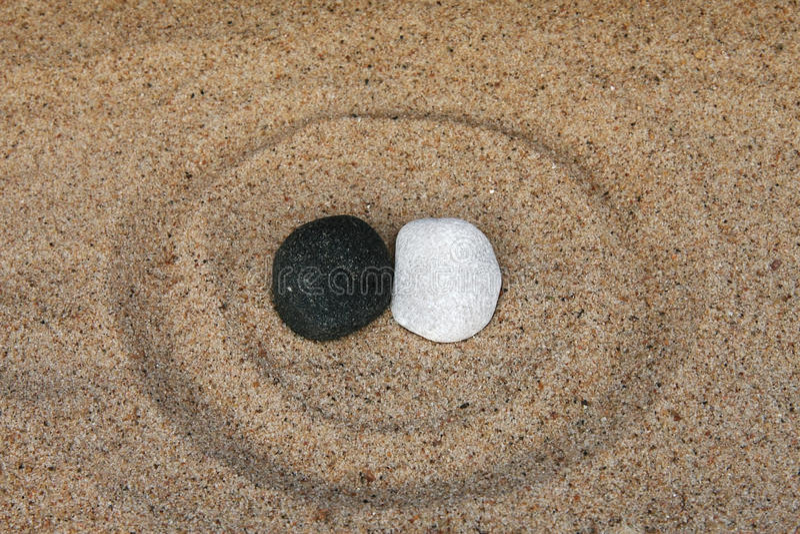 Zwart-witte stenen royalty-vrije stock foto