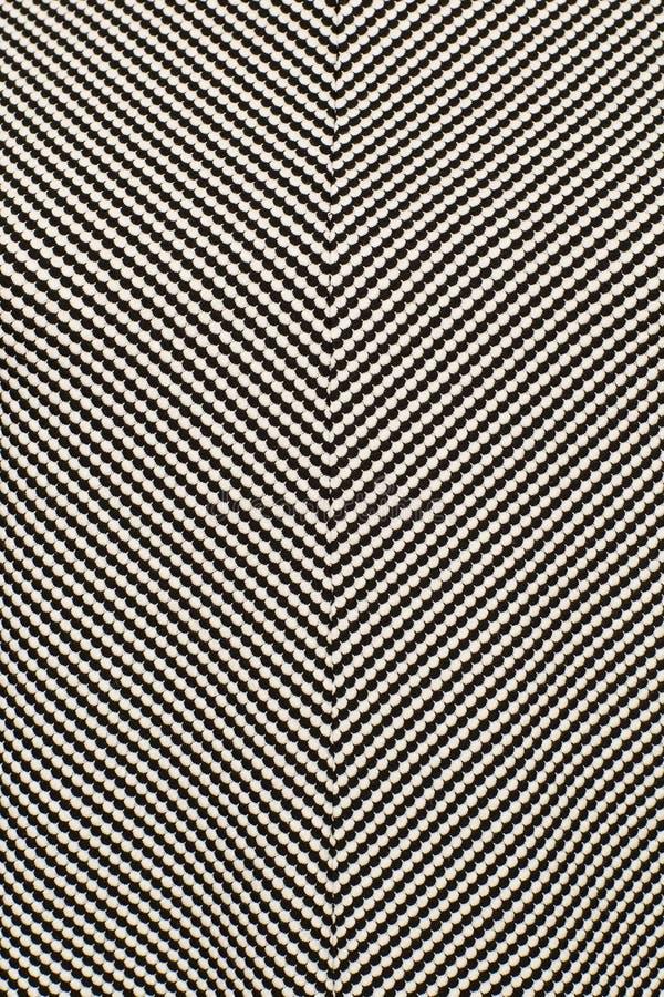 Zwart-witte stof in een geometrisch patroon stock foto