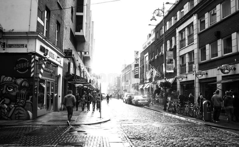 Zwart-witte straatfotografie royalty-vrije stock foto's