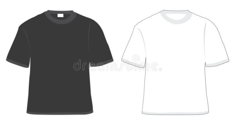 Zwart-witte t-shirt vector illustratie