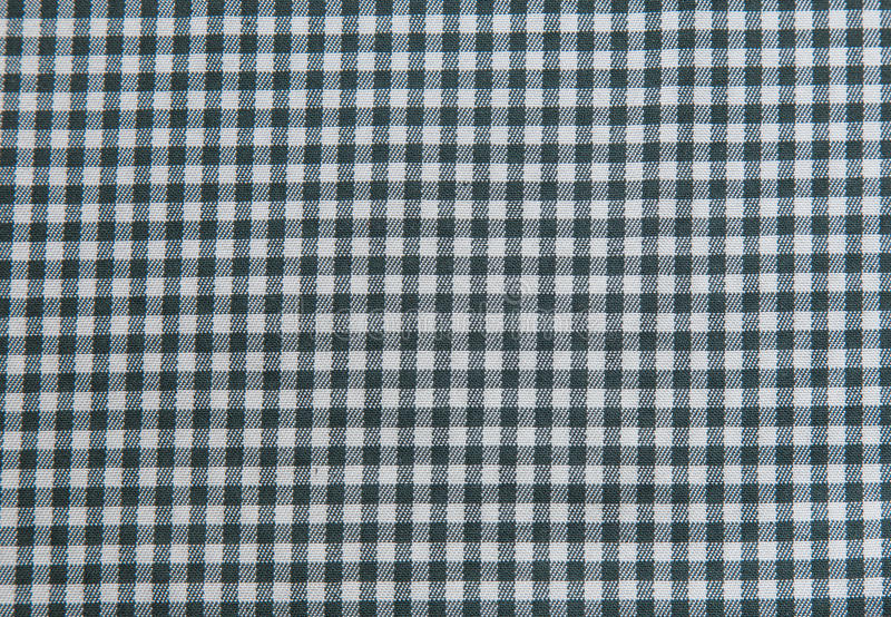 Zwart-witte tafelkleedachtergrond, plaidstof royalty-vrije stock foto