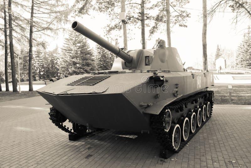 Zwart-witte tank stock foto