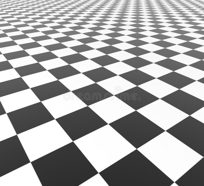 Zwart-witte Tegels stock illustratie