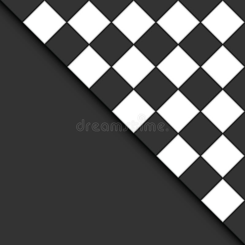 Zwart-witte tegels. stock illustratie