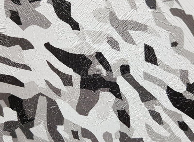 Zwart-witte textuur op de muur stock foto