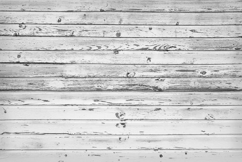 Zwart-witte textuur van houten planken stock foto