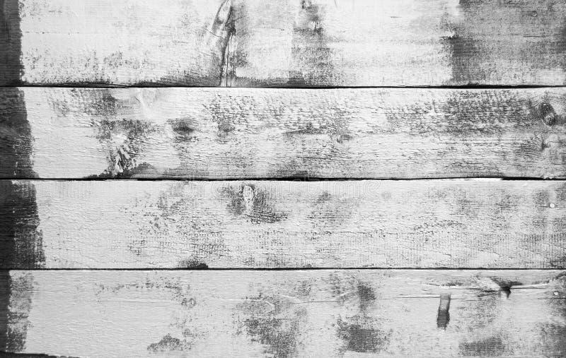Zwart-witte textuur van houten planken stock fotografie