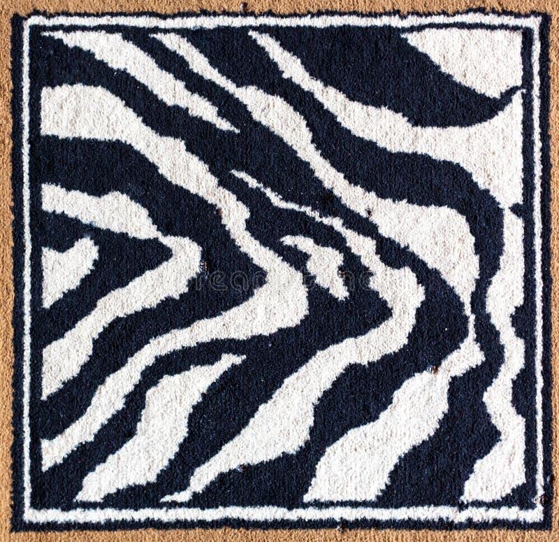 Zwart-witte tijgerdeken royalty-vrije stock afbeelding