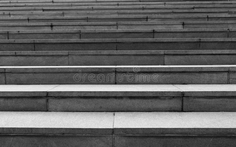 Zwart-witte treden stock foto