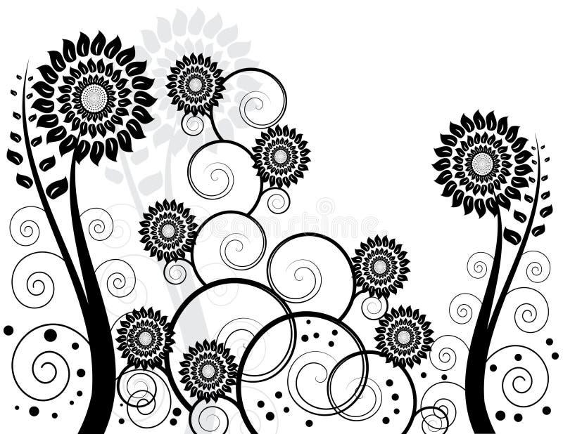 Zwart-witte Tuin royalty-vrije illustratie