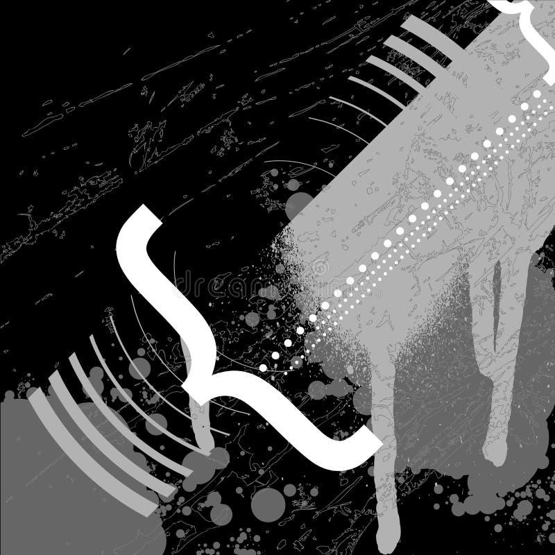 Zwart-witte Typo Graffiti vector illustratie