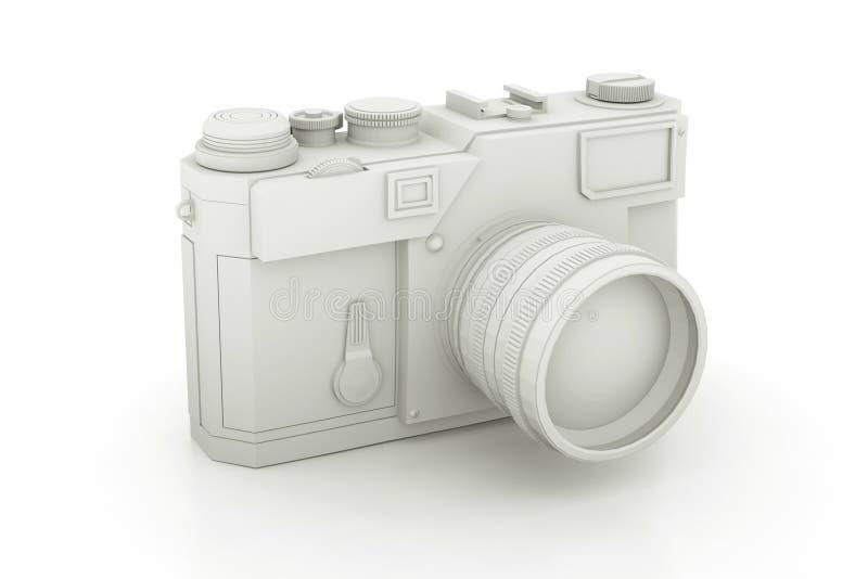 Zwart-witte Uitstekende Camera 3D Illustratie royalty-vrije illustratie