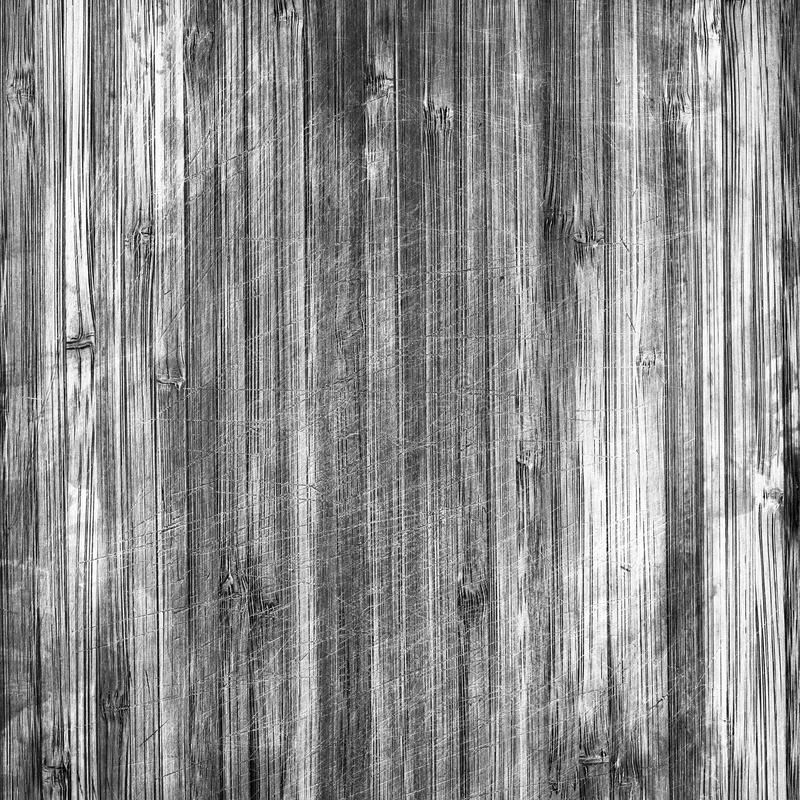 Zwart-witte uitstekende houten korreltextuur royalty-vrije illustratie
